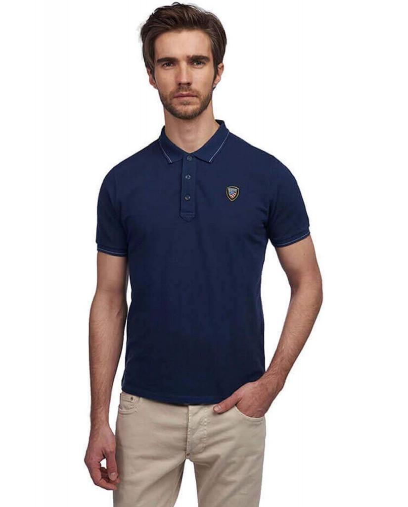 Blauer Polo   Polo manica corta Uomo Blu Fashion