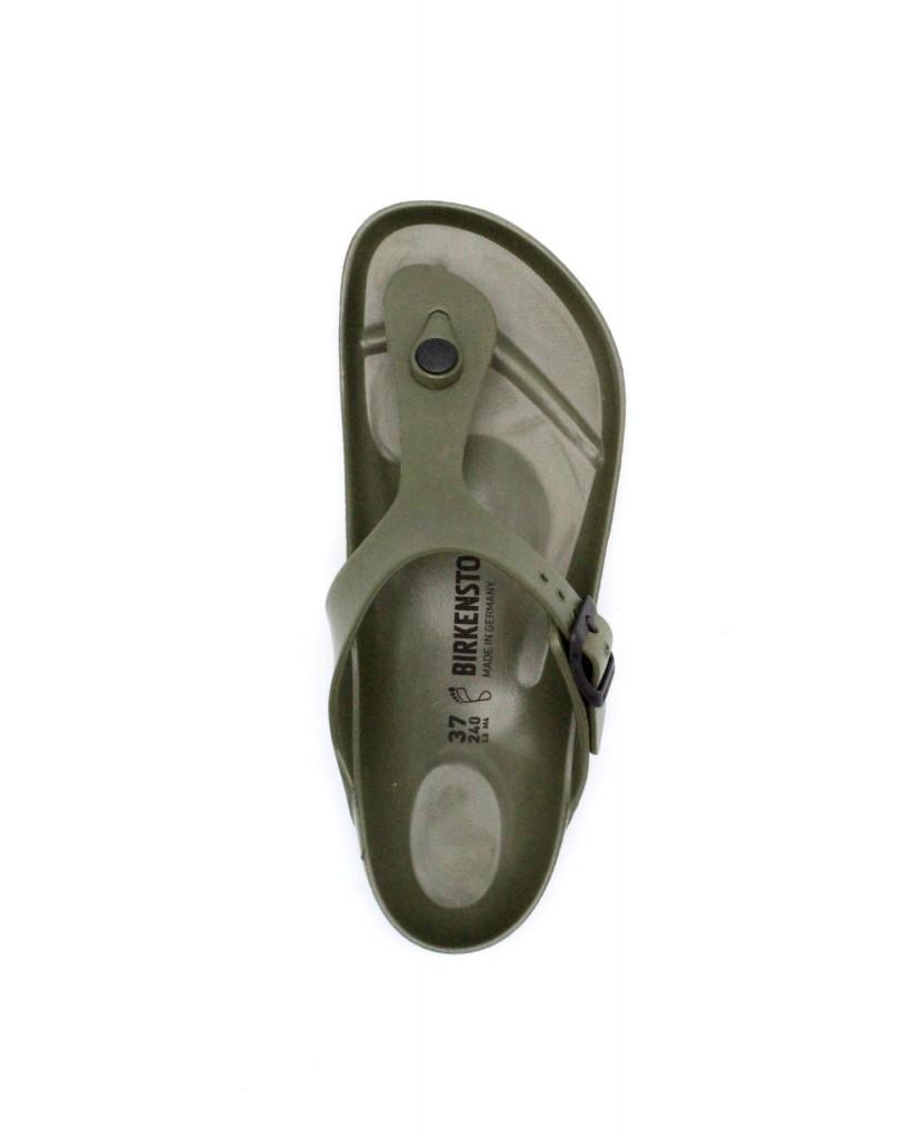 Birkenstock Infradito F.gomma 36/45 Unisex Khaki Classico