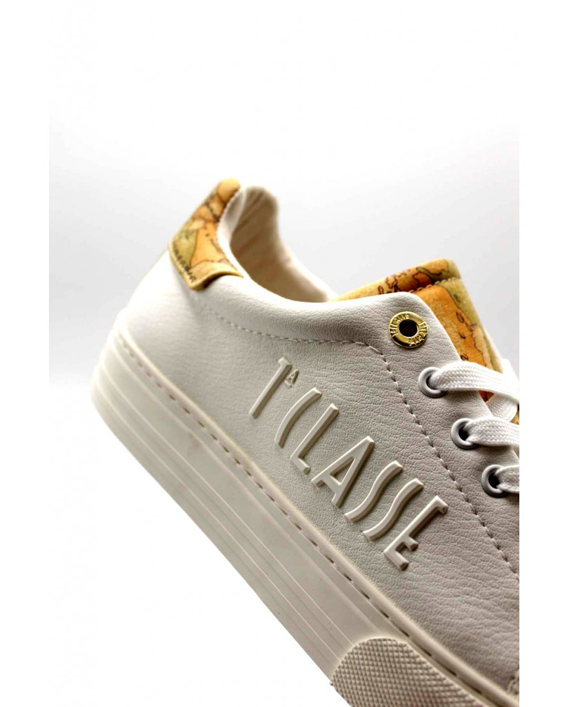 1^classe  Sneakers F.gomma Scarpa Donna Bianco Fashion