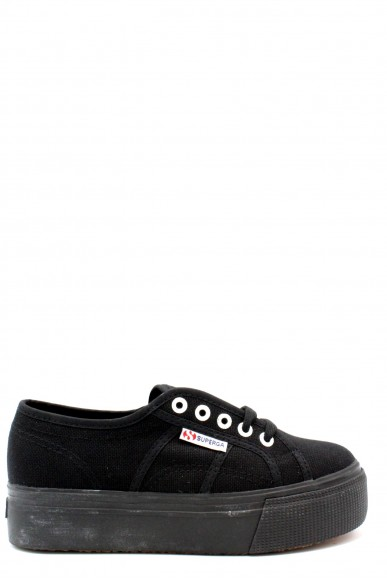 Superga Sneakers F.gomma 35/41 linea up and down Donna Nero Sportivo