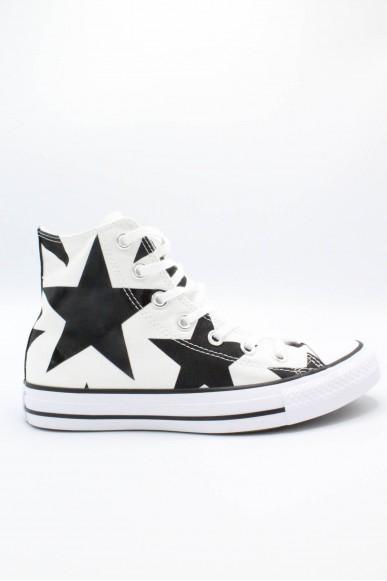 Converse Sneakers F.gomma 35/41 chuck taylors stars Donna Bianco-nero Sportivo