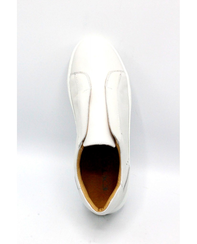 Exton Slip-on F.gomma 39/46 made in italy 510 Uomo Bianco Fashion