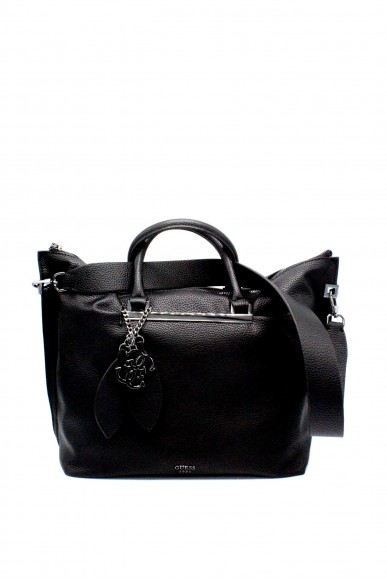 Guess Borse - Lou lou large satchel hwvm69 55070 ss18 Donna Nero Fashion
