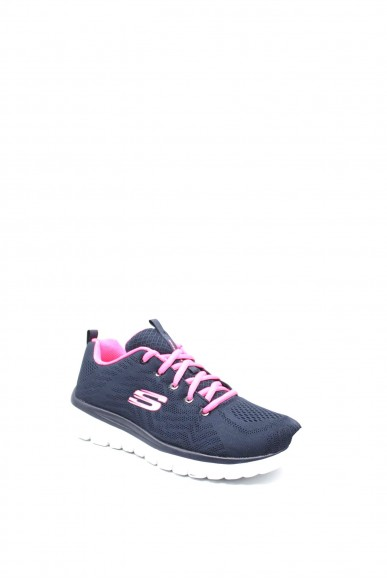 Skechers Sneakers F.gomma 36/41 Donna Blu Fashion