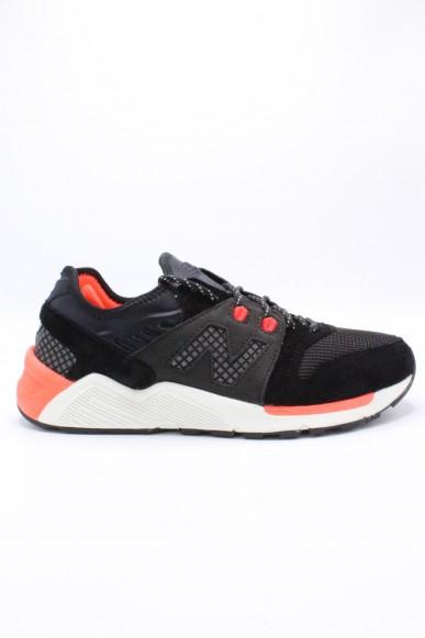 New balance Sneakers F.gomma 009 elite Uomo Nero-arancio Sportivo