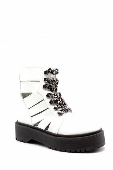 Nicole Stivaletti F.gomma T1991 Donna Bianco Fashion