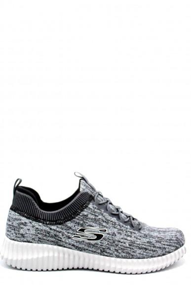 Skechers Sneakers F.gomma 39/46 Uomo Grigio-nero Sportivo