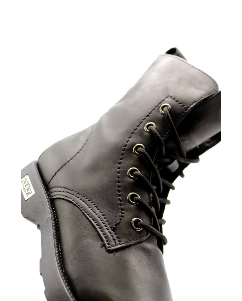 Cult Stivaletti   Zeppelin 472 mid w leather black Donna Nero Fashion
