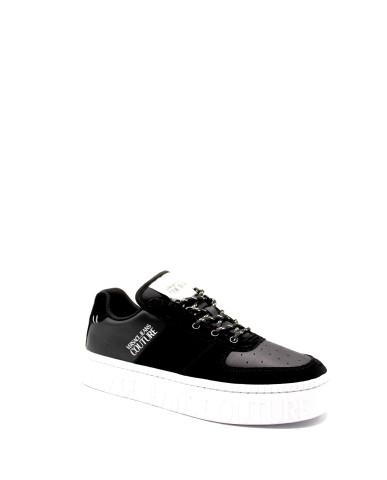 Versace couture Sneakers F.gomma Suede+leather+nylon+denim Uomo Nero Fashion