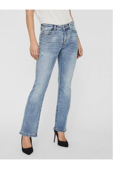 Vero moda Jeans   Vmsheila mr slim flare jeans gu339 Donna Blu Fashion
