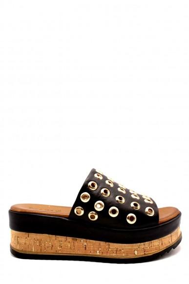 Inuovo Sandali F.gomma Borchie oro 8846 Donna Nero Fashion