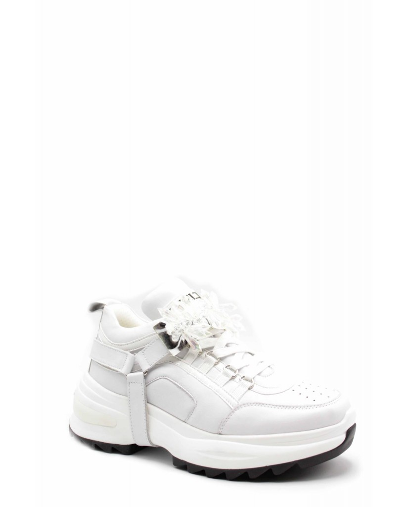 Cult Sneakers F.gomma Cle104004 Donna Bianco Fashion