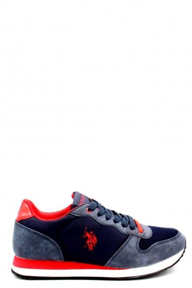 Us polo Sneakers F.gomma 40/46 sheridan1 ss18 Uomo Rosso-blu Fashion