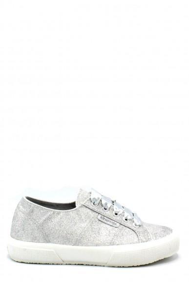 Superga Sneakers F.gomma 35/40 plus microglitterw ss18 Donna Grigio-argento Sportivo