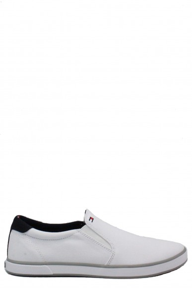 Tommy hilfiger Slip-on F.gomma 40/45 iconic Uomo Bianco Fashion
