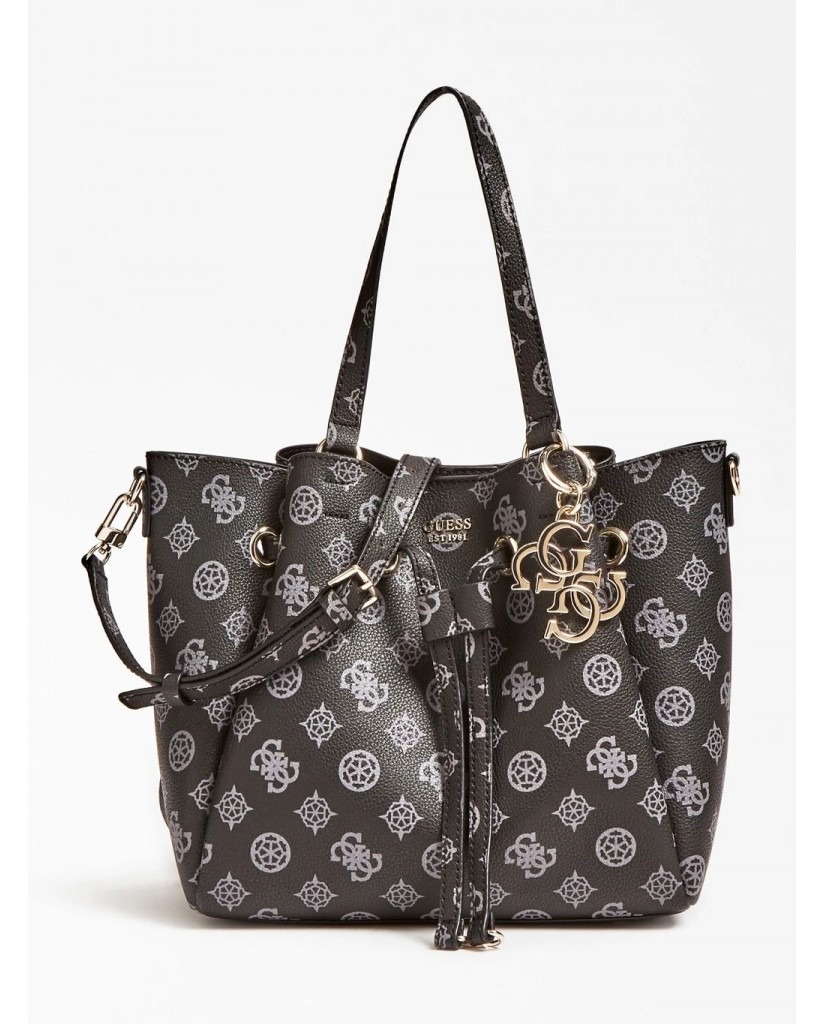 Guess Borse   Digital drawstring bag Donna Nero Fashion