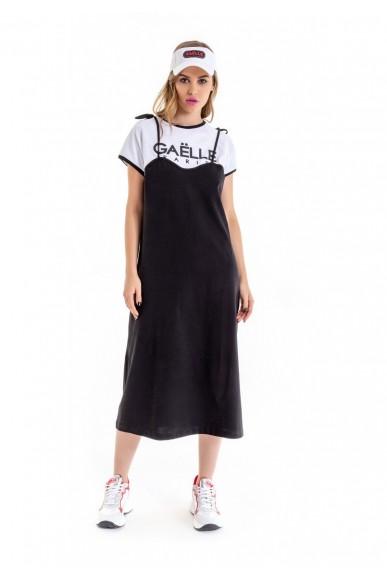 Gaelle paris Abiti   Abito canotta+t-shirt m/m+stampa Donna Nero Fashion