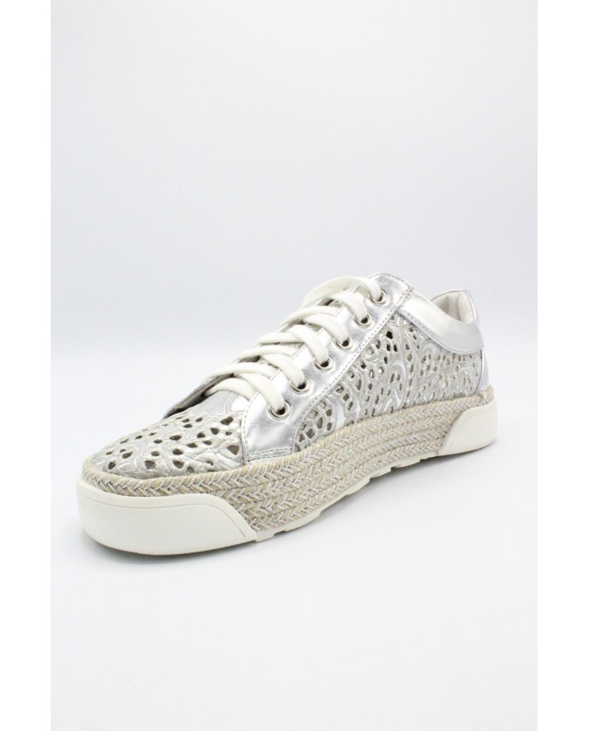 Cafe' noir Sneakers F.gomma 35/41 sneaker forata. Donna Argento Fashion