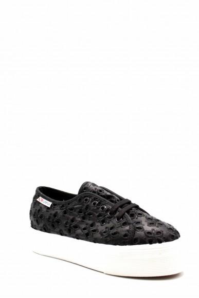 Superga Sneakers F.gomma S00fin0 Donna Nero Sportivo