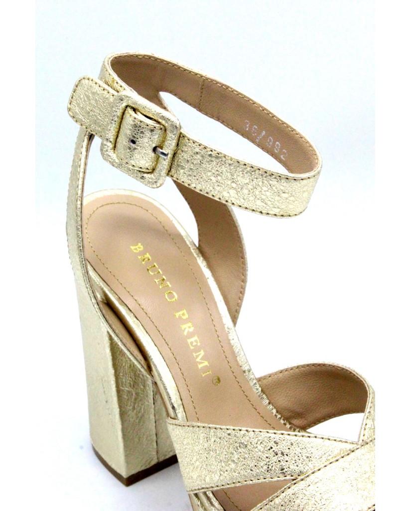 Bruno premi Sandali F.gomma 35/41 r3802 Donna Platino Fashion