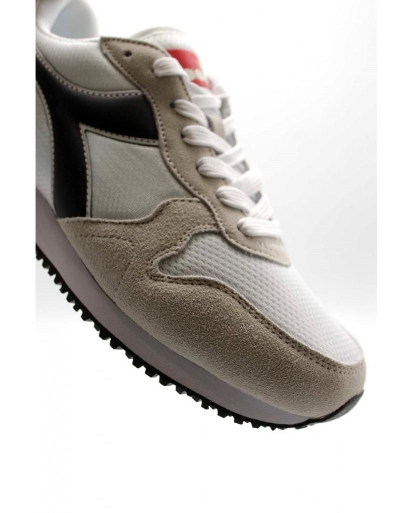 Diadora Sneakers F.gomma Olympia Uomo Bianco-nero Sportivo