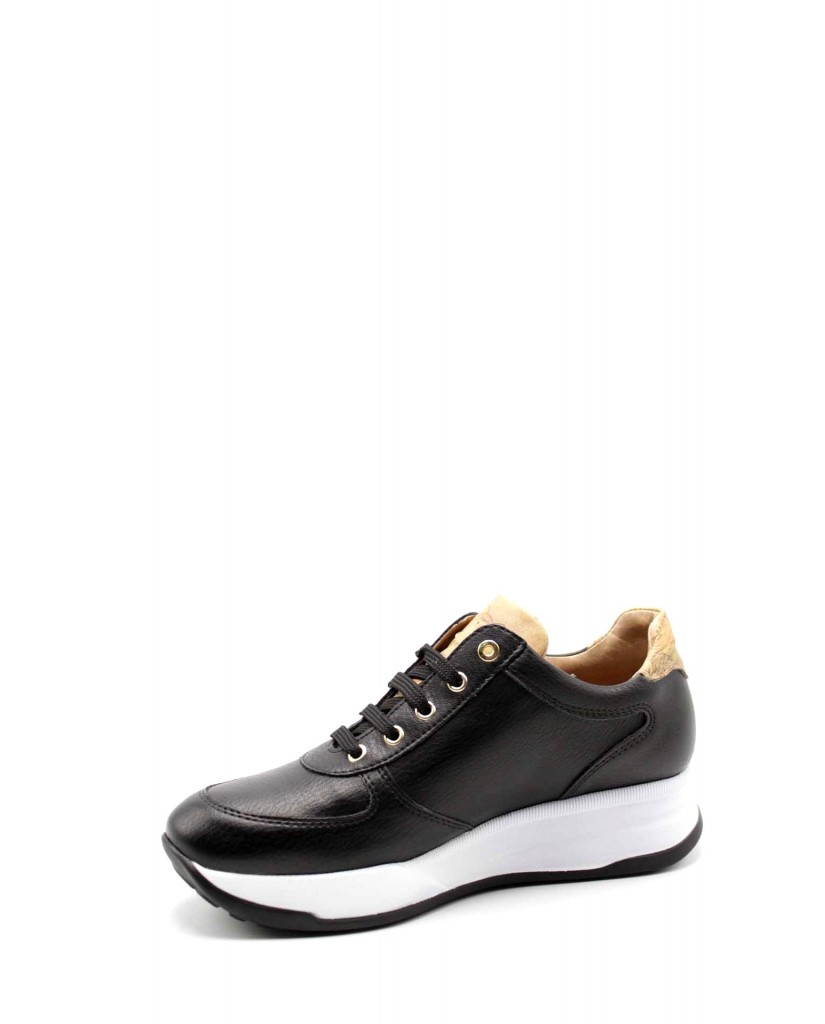 1^classe  Sneakers F.gomma Sneakers n0429 Donna Nero Fashion