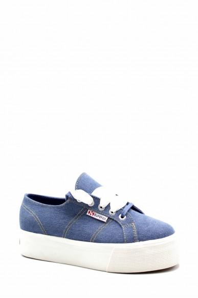 Superga Sneakers F.gomma S00fk60 Donna Blu Sportivo