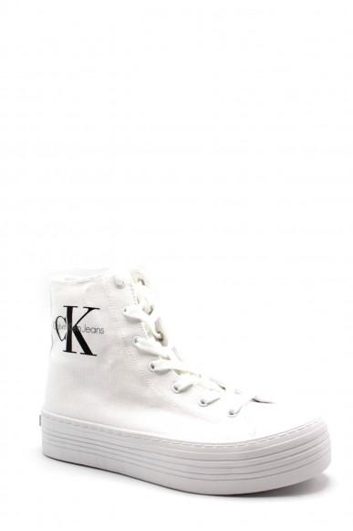 Calvin klein Sneakers F.gomma Zabrina canvas Donna Bianco Fashion