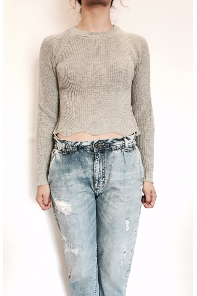 Berna Maglie S-l Donna Grigio Fashion