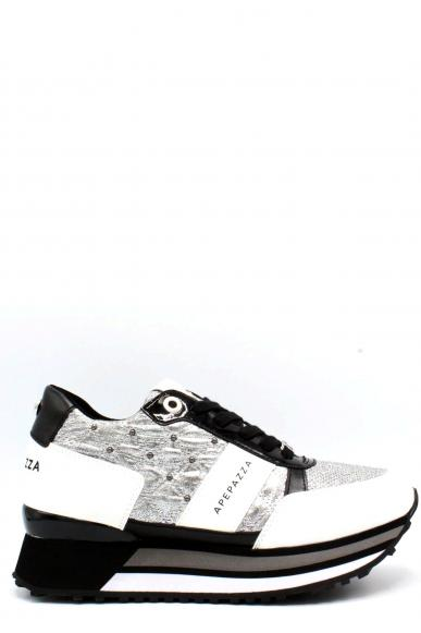 Ape pazza Sneakers F.gomma 35-41 rosalyn Donna Bianco-argento Casual