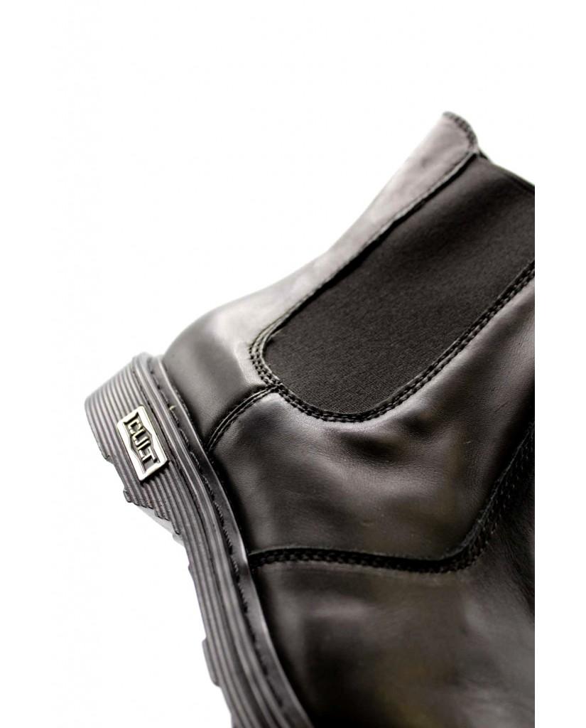 Cult Beatles   Sabbath 484 mid w leather black Donna Nero Fashion