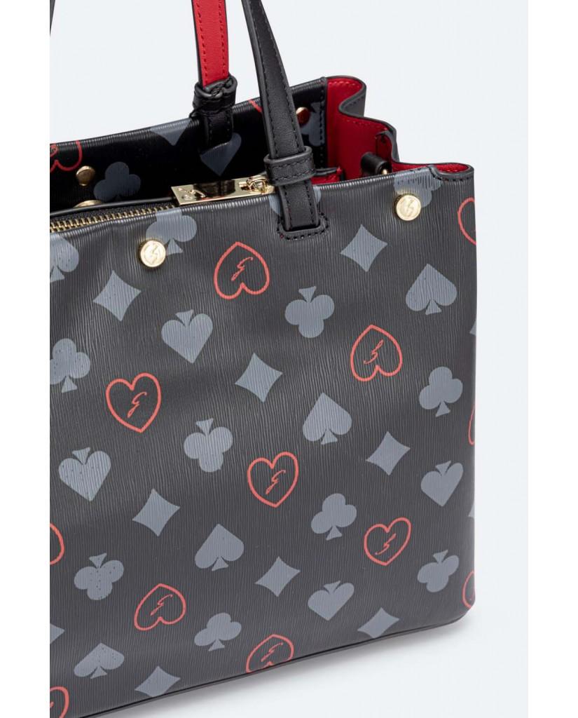 Gattinoni Borse   Heart game m doub.handle pvc / pu b Donna Nero Fashion