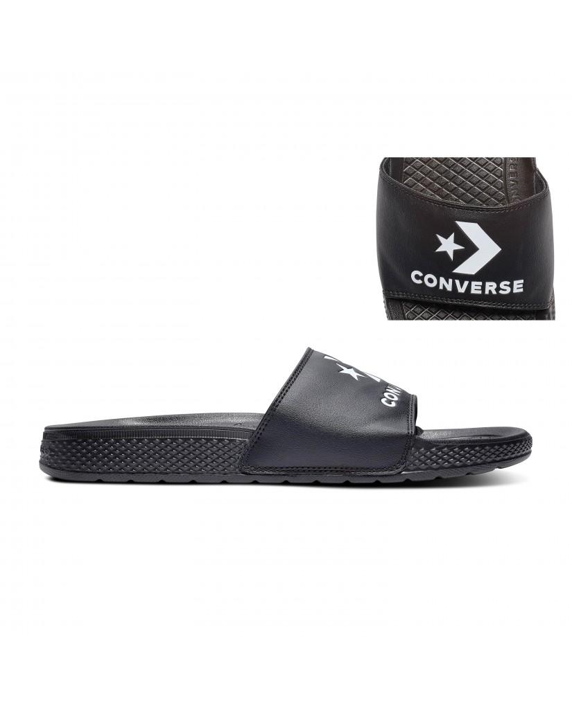 Converse Ciabatte F.gomma All star slide slip Unisex Nero Fashion