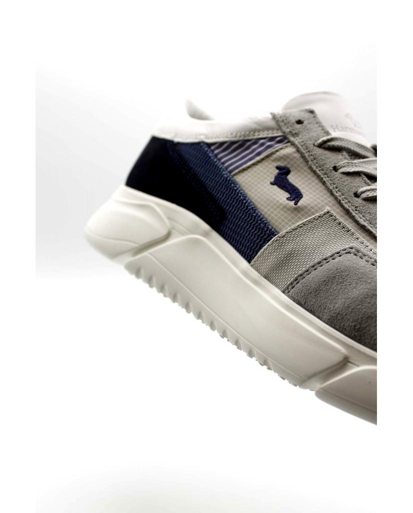 Harmont-blaine Sneakers F.gomma Scarpa uomo camoscio-tex fabric met Uomo Grigio Fashion