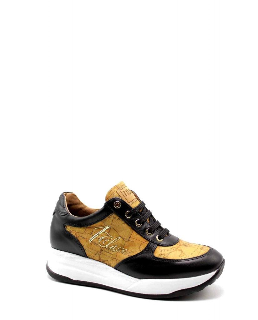 1^classe  Sneakers F.gomma Sneakers n0425 Donna Nero Fashion