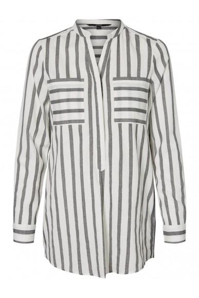 Vero moda Camicie Donna Bianco/nero Casual