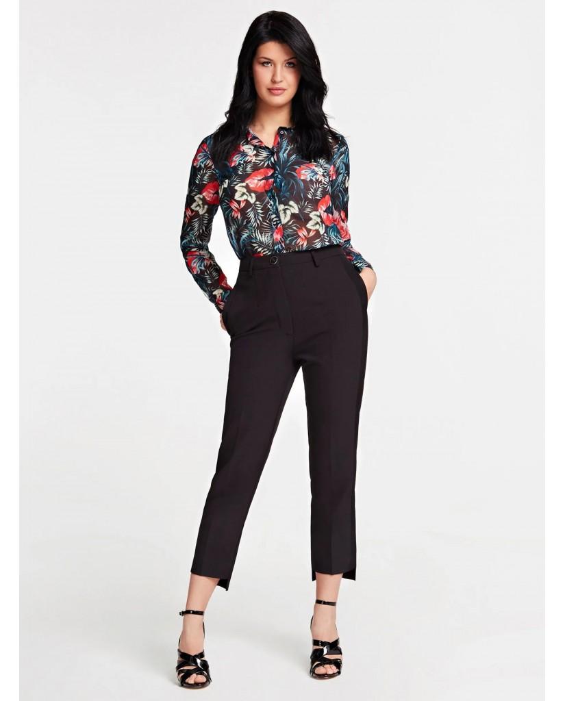 Guess Camicie   Ls clouis shirt Donna Nero Fashion