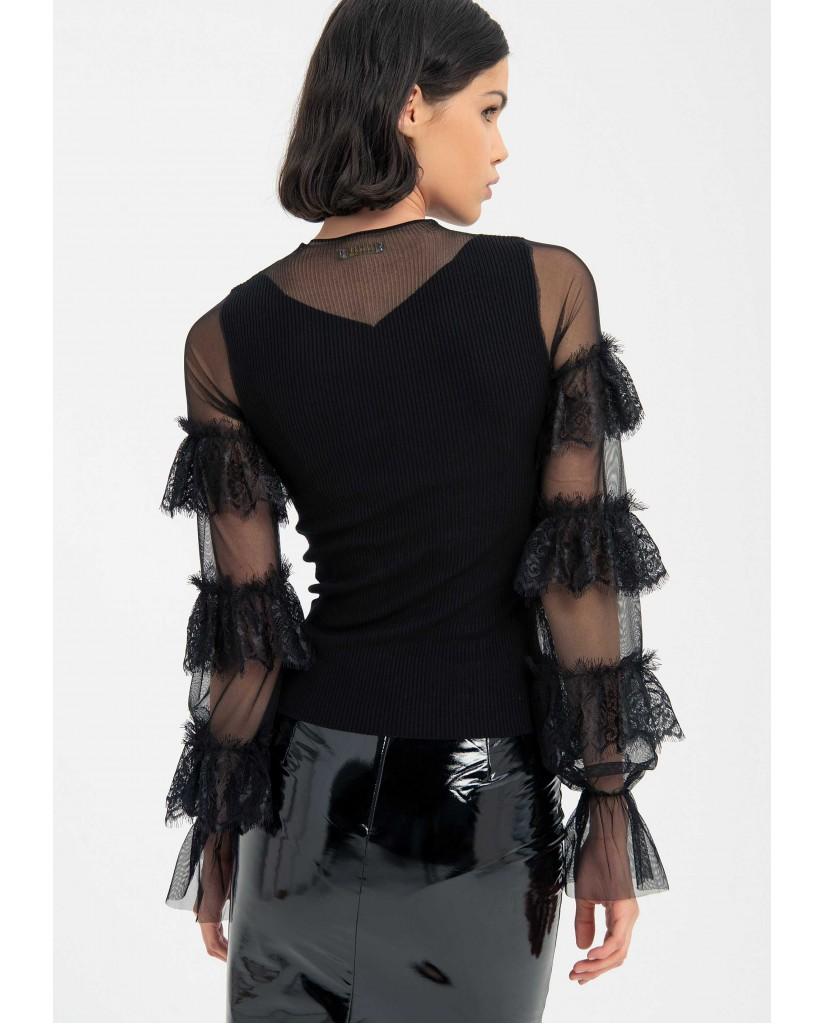 Fracomina Maglioni   8121  pull black Donna Nero Fashion