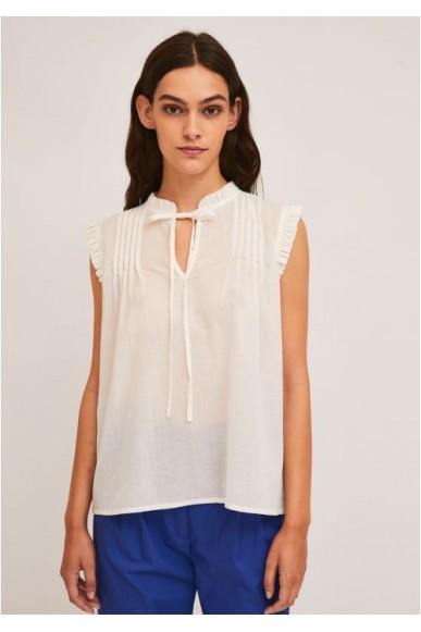 Compagnia fantastica Top   Ss21she29 Donna Bianco Fashion