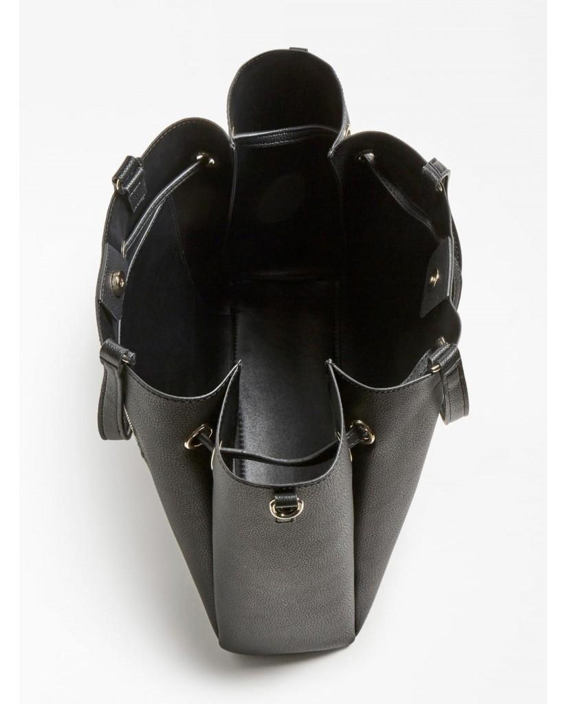 Guess Borse   Digital lrg drawstring bucket Donna Nero Fashion