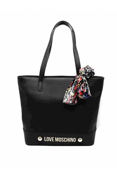 Moschino Borse   Shopper bonded pu rosso Donna Nero Fashion