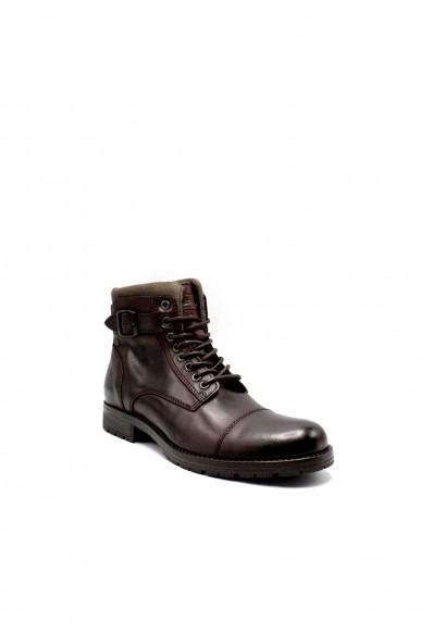 Jackejones Stivaletti F.gomma Jfwalbany leather brown stone sts Uomo Marrone Fashion