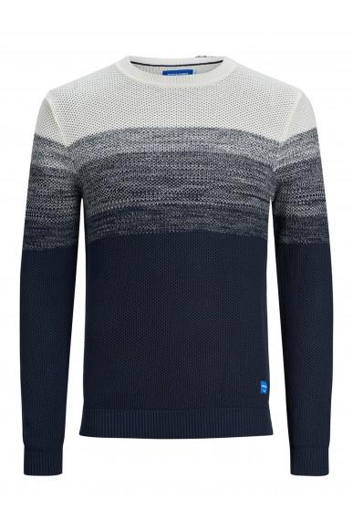 Jackejones Maglioni   Jorbase knit crew neck. Uomo Bianco Fashion