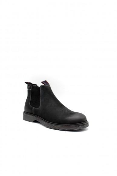 Jackejones Beatles F.gomma Jfwleyton leather pirate black Uomo Nero Fashion