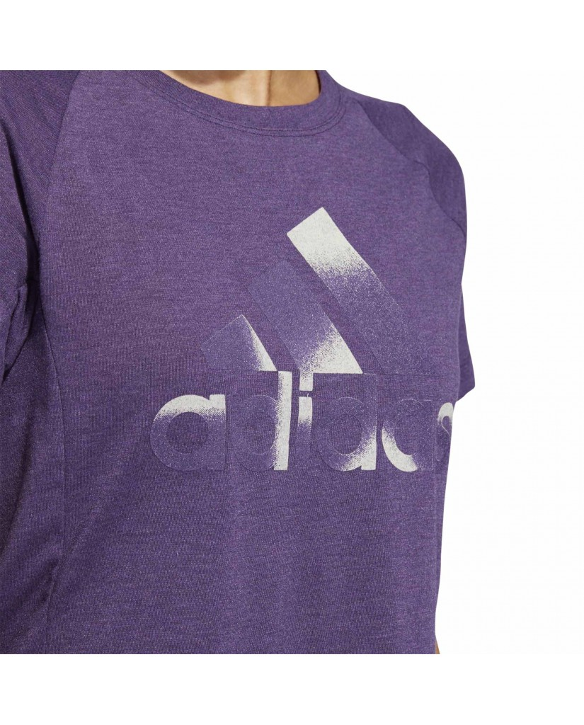 Adidas T-shirt   Boxy bos tee        legprp Donna Viola Sportivo