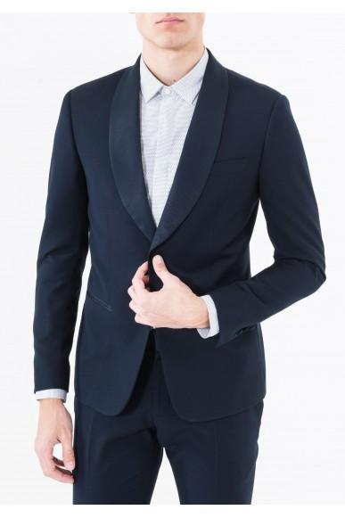 Antony morato Giacche   Giacca slim con rever in contr Uomo Blu intenso Fashion