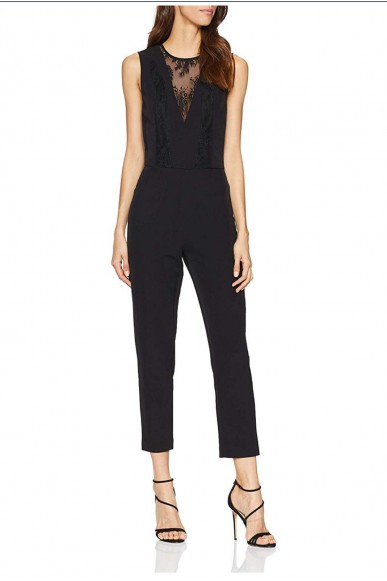Guess Abiti   Serenella overall Donna Nero Fashion