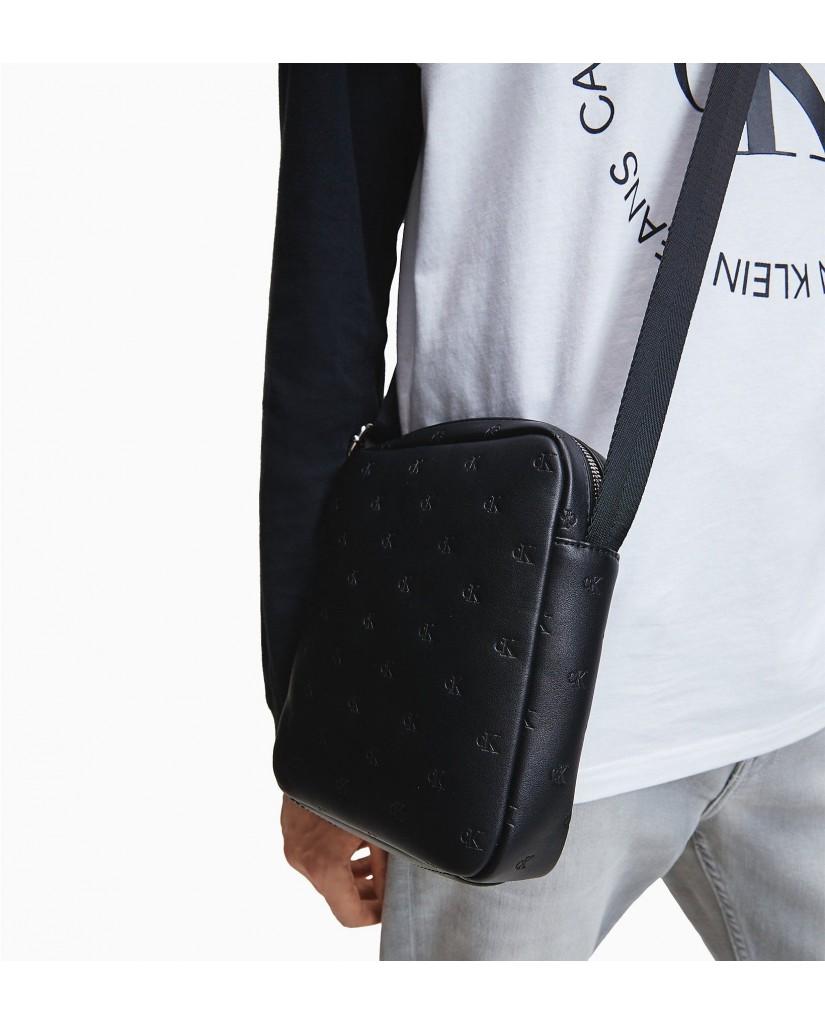 Calvin klein Tracolle   Ckj monogram emboss. bds Uomo Nero Fashion