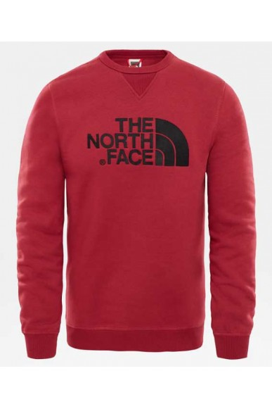 The north face Felpe   M drew peak crew tnf black Uomo Rosso Casual