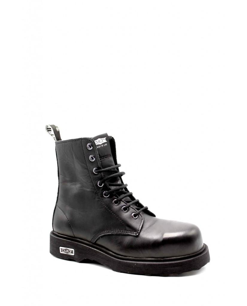 Cult Stivaletti   Bolt 3663 mid leather black Donna Nero Fashion